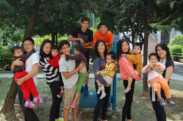 In the park below the Foshan orphanage