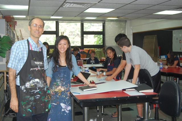 Charmaine and Mr. S in art room