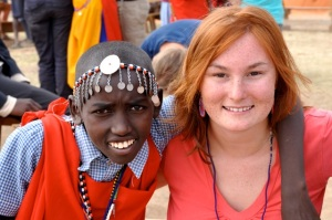 Brittany with Kenyan