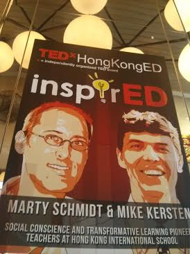 ted x signboard of marty and mike